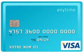 Carte Anytime Visa